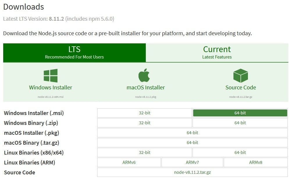 Download the Node.js source code or a pre-built installer for your platform, and start developing today.
