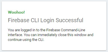 Firebase login successfull